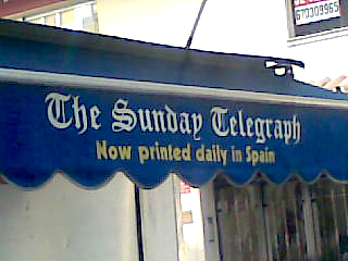 The Sunday Telegraph - Now printed daily in Spain