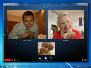 Keeping in touch with family via skype