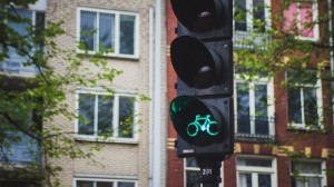 Bicyle traffic light Amsterdam