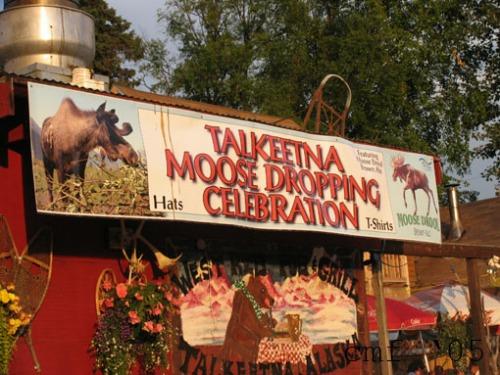 moose festival sign