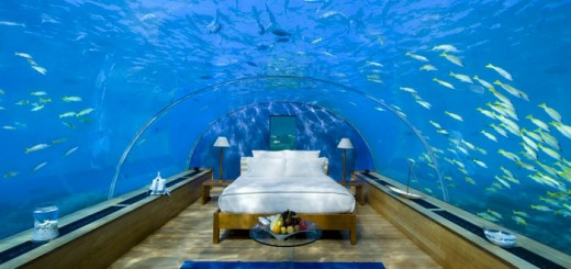 Perfect for anyone who wants to sleep in a fishtank! Also, for anyone who loves fish, the ocean and unique experiences (me, me, me!). You can choose between island villas or undersea villas (duh, easy choice!) for your accommodation. Hopefully no scuba divers like creeping around the underwater resort